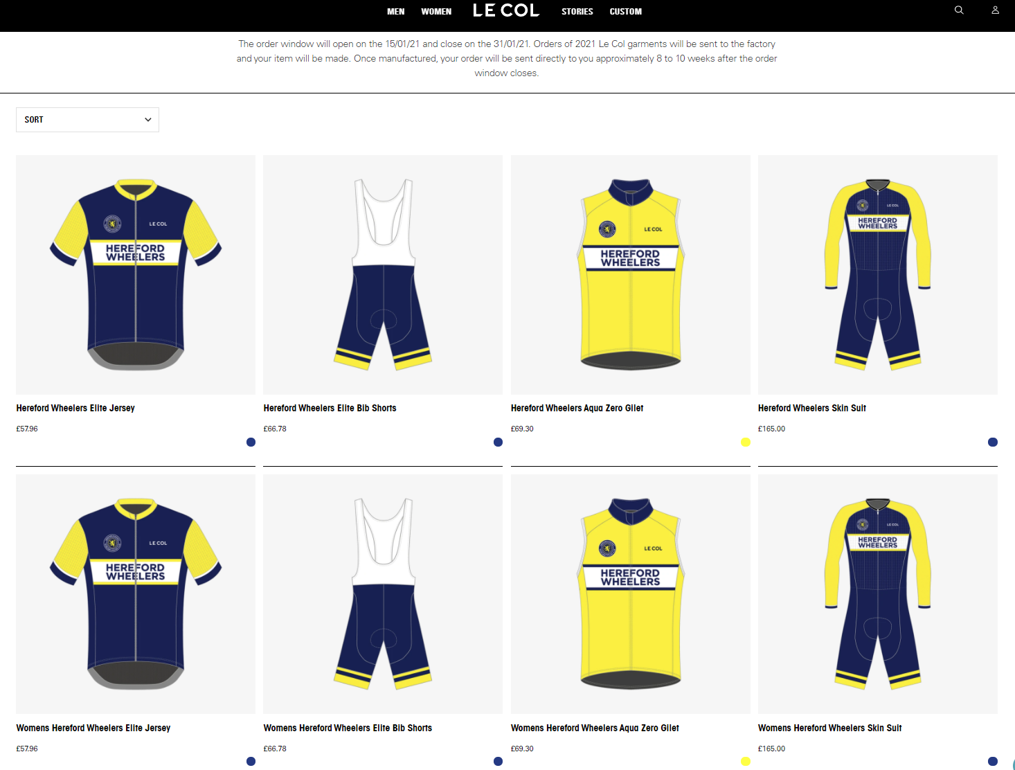 Wheelers new kit 2021 le col